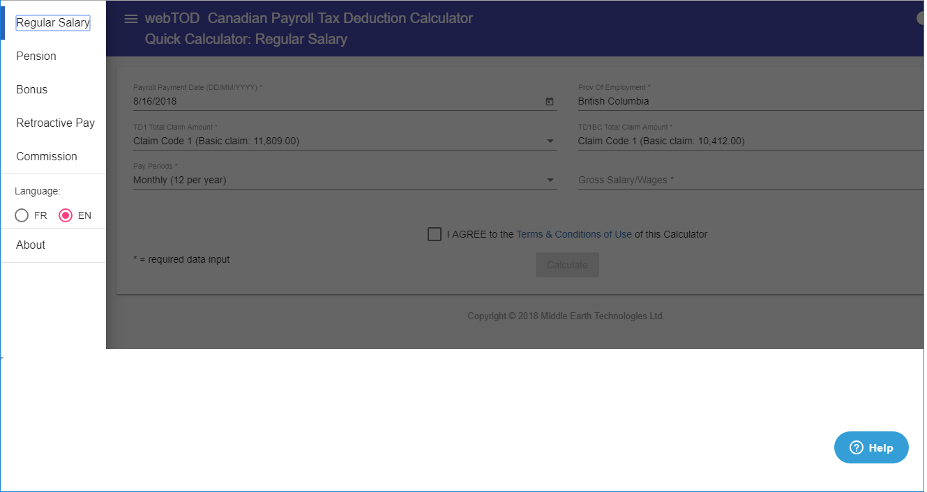 how to use webtod canadian payroll tax deduction calculator middle
